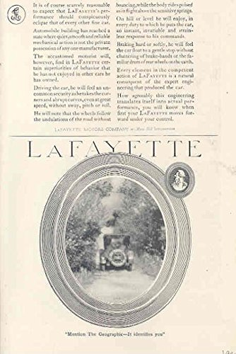 Lafayette Car (1920 LaFayette Roadster Car Ad ABA Traveler's Check)