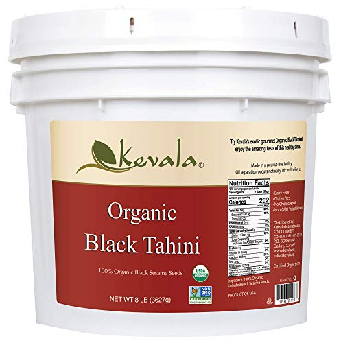 Kevala Organic Black Tahini 8 Lbs Pail