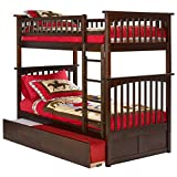 Atlantic Furniture Columbia Bunk Twin Over Twin with Urban Trundle-Walnut