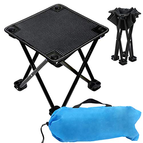 Compact Camp Stool, Mini Portable Folding Stool, Folding Camping Stool, Folding Ultralight Portable Mini Outdoor Chair for Camping Fishing Hiking Picnic Gardening Beach Backpacking with Carry Bag ()