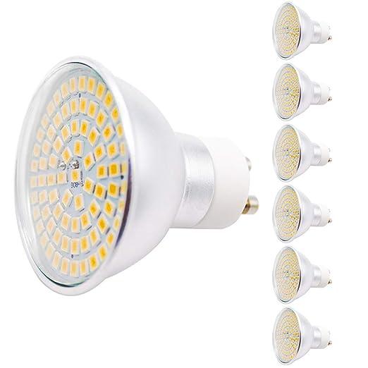 Bombillas LED GU10 de 5 W, repuesto para 45 W, 460 lm, luz