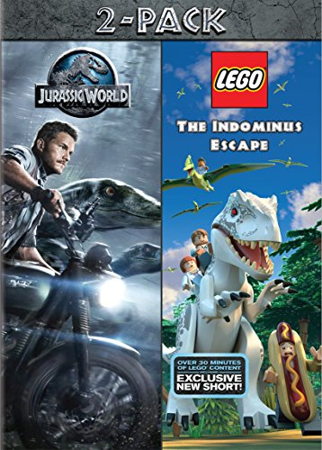 DVD : Jurassic World/ Lego: Jurassic World (2 Pack, Snap Case, Slipsleeve Packaging, 2 Disc)