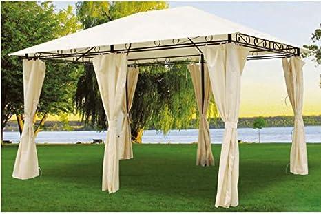 Gazebo in metallo con tende laterali: amazon.it: giardino e giardinaggio