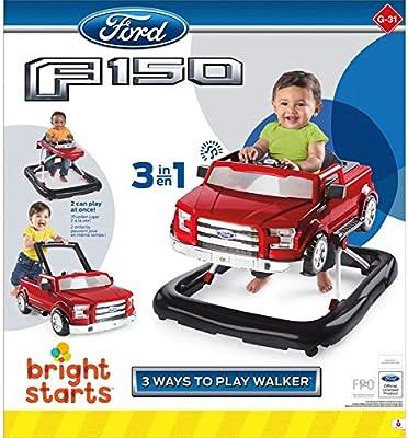 Bright Starts Ford F-150 3 maneras de jugar andador a presión y ...