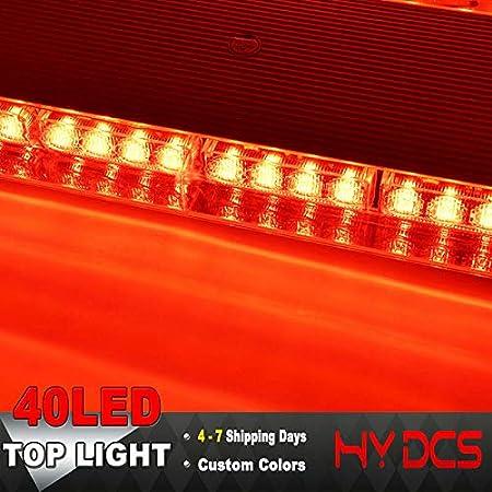 "22/"" 40LED Warning Emergency Beacon Tow Truck Response Strobe Light Bar Red 12//24"