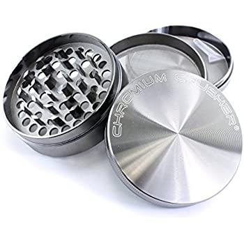 Chromium Crusher 3 Inch 4 Piece Tobacco Spice Herb Grinder - Gun Metal