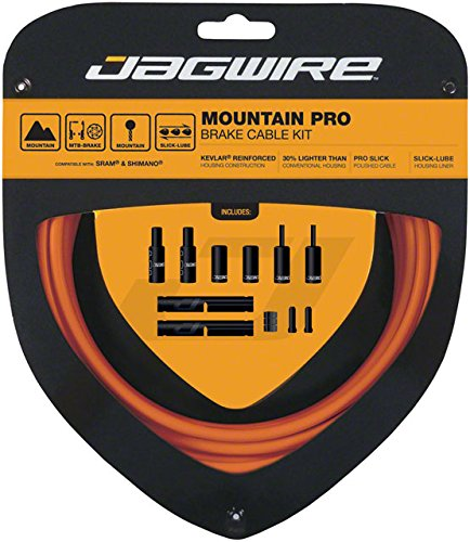 Jagwire Pro Brake Cable Kit Mountain SRAM/Shimano, Orange by Jagwire