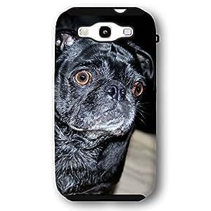 Black Pug Dog Puppy Samsung Galaxy S3 Armor Phone Case