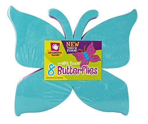 Creative Hands Foam Shape Stack Butterflies Stickers Butterfly Foam