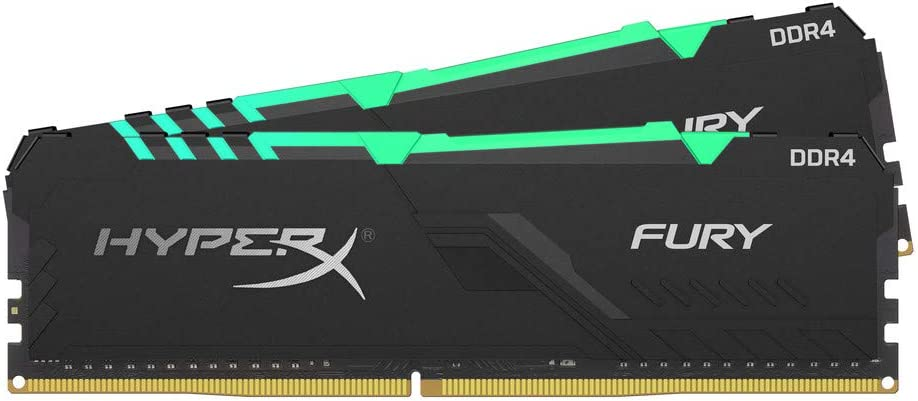 HyperX Fury 32GB 2666MHz DDR4 CL16 DIMM (Kit of 2) RGB XMP Desktop Memory HX426C16FB3AK2/32