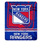The Northwest Company NHL New York Rangers Fade Away Printed Fleece Throw, 50-inch by 60-inch