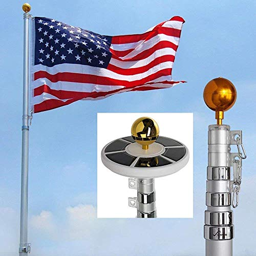 Pvc Flag Pole With Solar Light