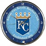 MLB Kansas City Royals Chrome Clock