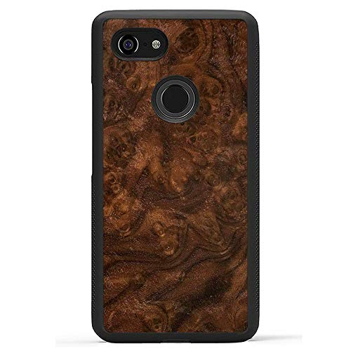Carved | Google Pixel 3 XL | Luxury Protective Traveler Case | Unique Real Wooden Phone Cover | Rubber Bumper | Walnut Burl