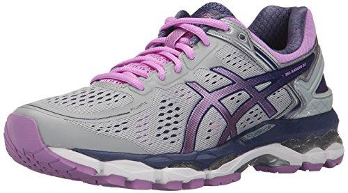 ASICS Women's Gel-Kayano 22 Running Shoe, Silver/Violet/Deep Cobalt, 9.5 M US