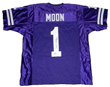 f0c6750deec Image Unavailable. Image not available for. Color: Warren Moon Signed Jersey  ...