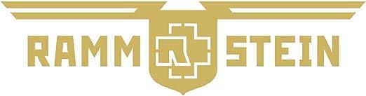 Rammstein Auto Aufkleber Sticker Gold D R Aussenklebend 57cm Offizielles Band Merchandise Heckscheibe Auto