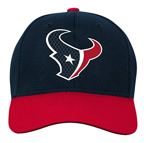 NFL Youth Boys Tech Structured Snapback Hat-Deep Obsidian -1 Size, Houston Texans