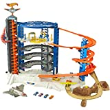 ultimate garage - Hot Wheels Super Ultimate Garage Play Set With Pterodactyl Play Area