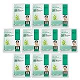 Facial Mask Green - DERMAL Green Tea Collagen Essence Facial Mask Sheet 23g Pack of 10