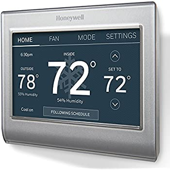 Ecobee4 smart thermostat with built in alexa room sensor included honeywell rth9585wf1004w wi fi smart color programmable thermostat v 20c wire required fandeluxe Images