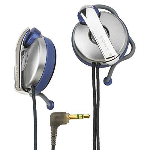 Sony MDR-Q55SL Lightweight, Open-Air, Clip-On Earhook Earclip SportClip Stereo with Deep-Bass Turbo Duct Headphones (Gray)