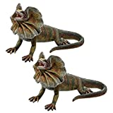 Design Toscano Necked Lizard Statue (Set of 2)