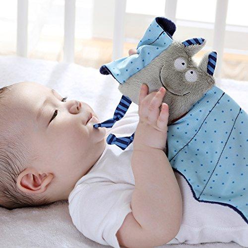 sigikid 41099, fille et garçon, doudou chauve-souris, bleu/gris, 'Baby bite me!'