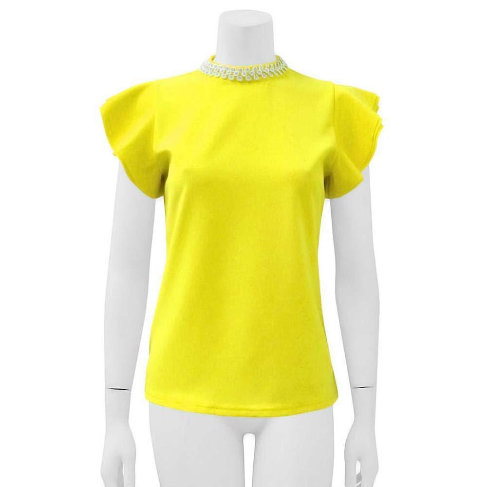 Yellow Gracia Necklace Neck Top