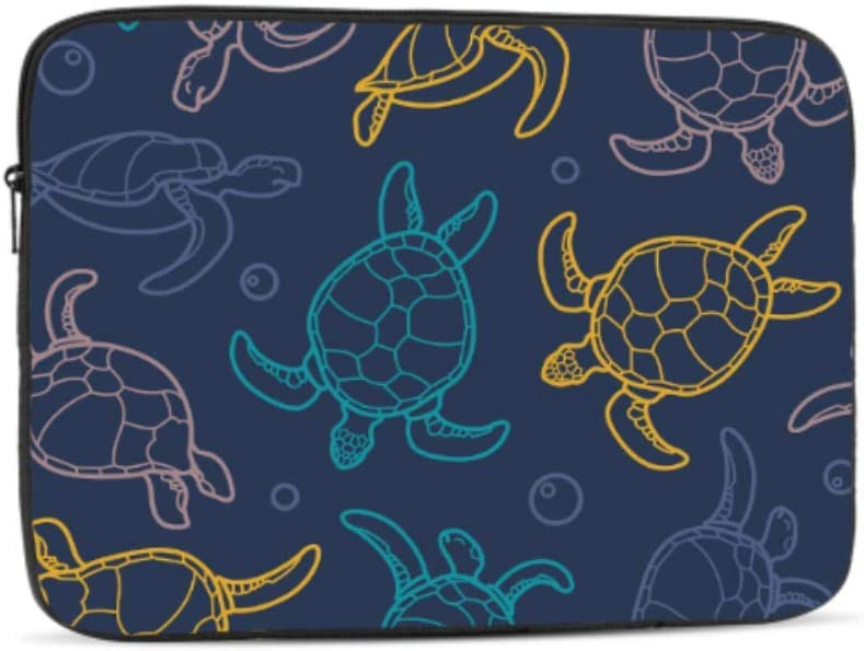 Designed to Fit Any Laptop//Notebook//ultrabook//MacBook with Display Size 11.6 Inches Cute Cartoon Deep Ocean Sea Turtle Pattern Neoprene Sleeve Pouch Case Bag for 11.6 Inch Laptop Computer