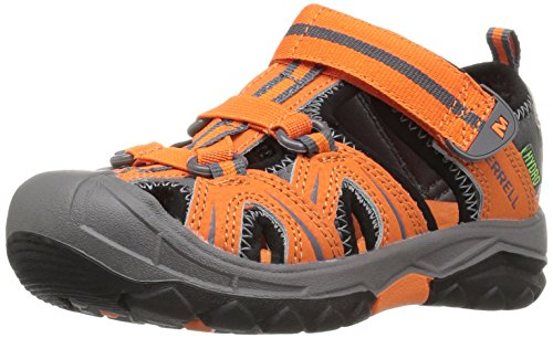 Merrell Hydro Water Sandal, Orange/Grey, 5 M US Big Kid