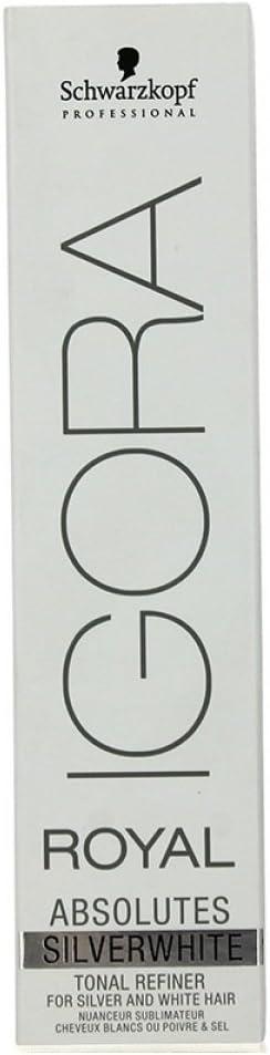 SCHWARZKOPF IGORA Royal AbSOLUTES - Tinte permanente para cabello (60 ml), color gris