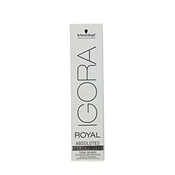 db6a3da436 SCHWARZKOPF IGORA ROYAL ABSOLUTES SILVER WHITE PERMANENT HAIR DYE 60ml -  SLATE GREY: Amazon.co.uk: Beauty