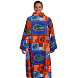 NCAA Florida Gators Unisex Orange-Royal Blue Patchwork Snuggie