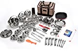 Costwith and All In One Camping Cookware Kit Full Set 55 pcs Outdoor Camping Backpacking Trekking Fishing