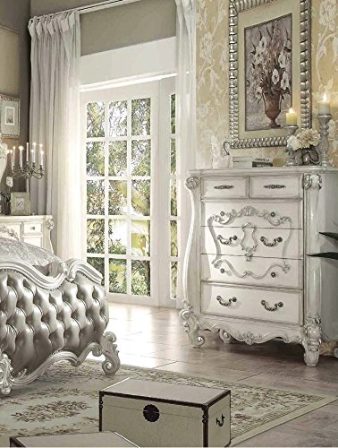 Simple Relax 1PerfectChoice Versailles Bone White 5-Drawer Chest