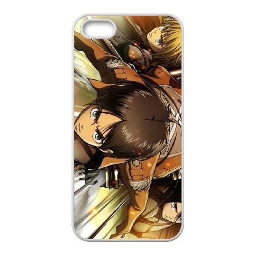 Attack On Titan coque iPhone 4 4S Housse Blanc téléphone portable couverture de cas coque EBDOBCKCO13785