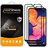 (2 Pack) Supershieldz for Samsung (Galaxy A10E) Tempered Glass Screen Protector, (Full Screen Coverage) Anti Scratch, Bubble Free (Black)