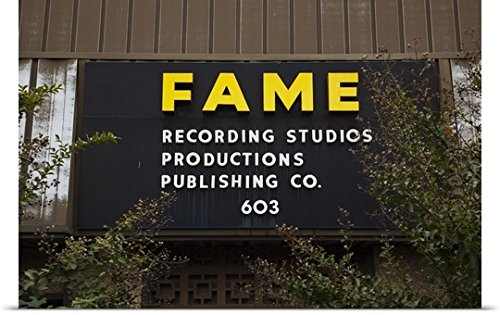 Great Big Canvas Poster Print entitled Fame Recording Studio, Muscle Shoals, Colbert County, Alabama