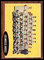 Baseball MLB 1962 Topps #132 Angels Team Ex-Mint Angels Inset Photo