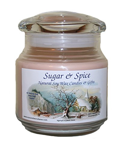 Sugar & Spice Natural Soy Wax Candles 16 Ounce (Oatmeal Raisin Cookie)