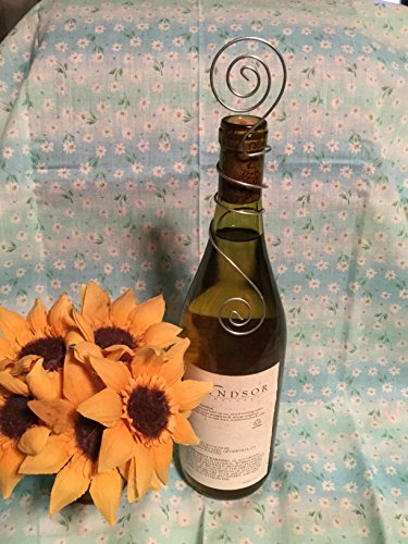 Wine Bottle Table Number Holder, Weddings, Winery Events, Bachelorette or Birthday Parties -
