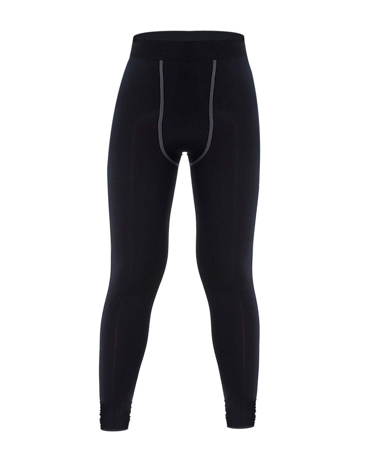 LNJLVI Boys & Girls Compression Pants Sports Base Layer Legging/Tights (Black-Gray-1, 5) by LNJLVI