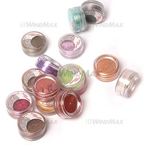 Brand New 15 Cold Metallic Colorful Glitter Shimmer Pearl Loose Eyeshadow Pigments Mineral Eye...