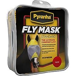 Pyranha Fly Mask No Ears Horse 28in HORSE