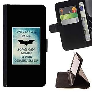 Momo Phone Case / Flip Funda de Cuero Case Cover - Yourself Up affiche minimaliste - Apple Iphone 5 / 5S