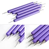 BTArtbox Tools 5pcs 2 Way Double Ended Nail Art Manicure Pedicure Dot Paint Dotting Painting Marbleizing Pen Tool
