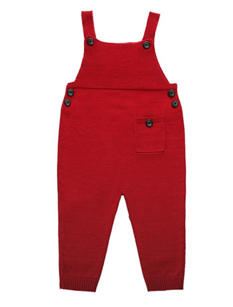 ARAUS Unisex Baby Dungarees Girl Boy Knitted Overalls Strap Jumpsuit Autumn Clothes Outfits 0-5T