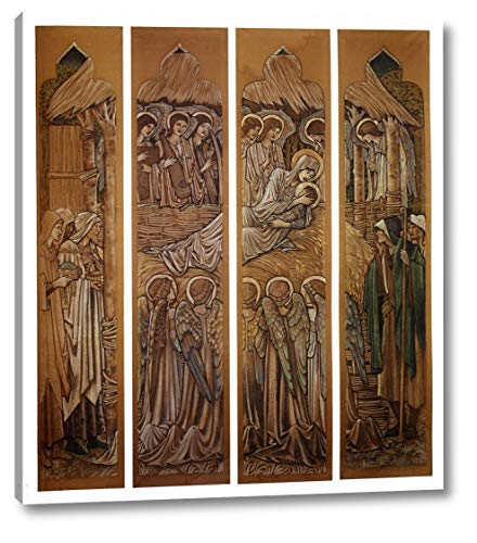 The Nativity, Cartoons for Stained Glass at St. David's Church, Hawarden by Edward Burne-Jones - 19