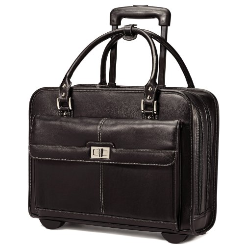 Rolling Briefcase Womens (Samsonite Women's Mobile Office, Black, One Size)
